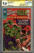 Tales to Astonish 79 CGC 9.6 NM+ Signed STAN LEE HULK vs HERCULES Jack Kirby Art