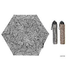 KS Brands UU0186 Ladies Assorted Animal Print 3 Section Supermini Umbrella - New