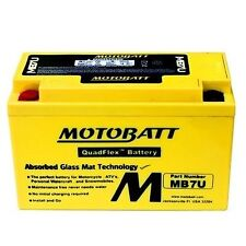 NEW Motobatt MB7U 12V 6.5Ah Motorcycle Battery Replaces YT7B-BS YT7B4