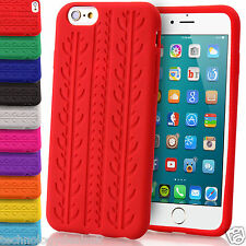 Soft Silicone Case Tyre Tread For Apple iPhone 6S Plus SE Gel Rubber Grip Cover