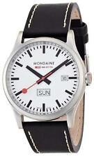 Mondaine Men's A667.30308.16SBB Day-Date 41mm Leather Band Watch