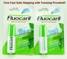 2 x 15 ml. Fluocaril Mouth Spray Instant Breath Freshener Mint FREE Ship!
