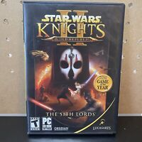 Star Wars: Knights of Old Republic II The Sith Lords(PC Game 2005) 4-Disk,Manual