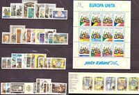 1993 Italia Annata Completa Nuovi Come Unificato 49 Valori + 1 Bf MNH Integri