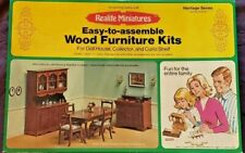 1974 Realife Miniatures Dining Room Furniture Kit #190 - Open Box, NEW & UNUSED!