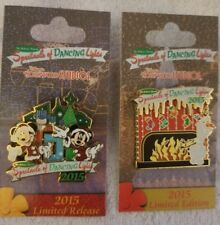Disney 2015 Osborne Spectacle of Dancing Lights 2 Pin Set Mickey, Minnie,Olaf LR