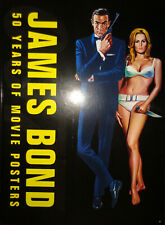 JAMES BOND 50 YEARS OF MOVIE POSTERS Hardcover Book DR NO Skyfall