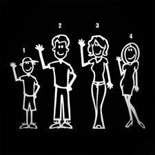 Figura de palo miembros de la familia Set Coche Furgoneta Ventana Calcomanía Adhesivo Vinilo Divertido Novedad