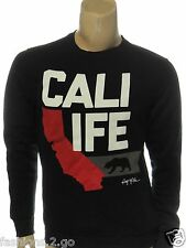 RING OF FIRE NEW $40.00  BLACK GRAPHIC Cali Life CREWNECK SWEATSHIRT sz S SMALL