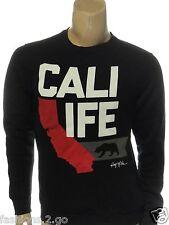RING OF FIRE NEW $40.00 BLACK Cali Life California CREWNECK SWEATSHIRT sz XL