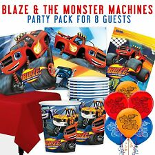 Party Birthday Supplies Car, Racing,  Blaze Monster Machines  Pack for 8 Guests