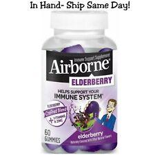 Airborne Elderberry Gummies + Vitamins + Zinc Immune System Support 60 Count