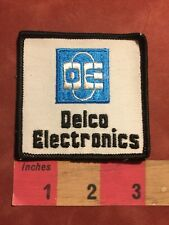 Vtg DE DELCO ELECTRONICS Advertising Patch S83R
