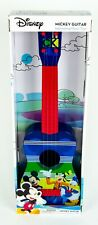 """DISNEY Mickey Guitar 22"""", Blue & Red - NEW + FAST SHIPPING"""