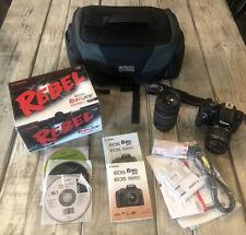 Canon EOS Rebel XS DSLR 1000D  Bundle EF 75-300, EFS 18-55 Bag 2 Batteries T3
