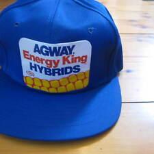 vintage AGWAY ENERGY KING HYBRIDS Corn Feed Farmer SNAPBACK Seed CAP New NOS