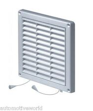 Air Vent Grille with Pull Cord Shutter 165mm x 165mm Ventilation Cover Grid T43a