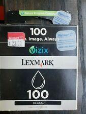 LEXMARK PRINTER INK CARTRIDGE #100 UNUSED - BLACK