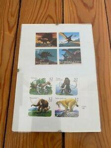 USPS Dinosaur Stamps - 4 1989 .25 & 4 1994 .32