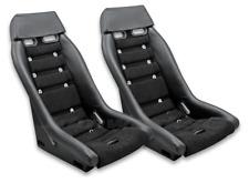 RETRO CLASSIC R2 VINTAGE RACING BUCKET SEATS (Microsuede W/ Grommets) PAIR