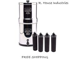 Big Berkey Water Filter with 4 Black Filters FREE Shipping NEW