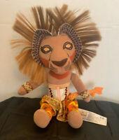 "Disney Cute Simba Lion King Broadway Musical Stuff Plush 12"""