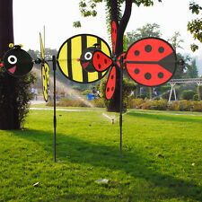Bumble Bee / Ladybug Windmill Whirligig Wind Spinner Home Yard Garden Decor