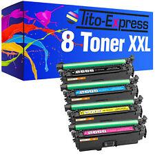 8 Toner XXL PlatinumSerie für HP CE400X CE401A CE402A CE403A 500 color M 551 DN
