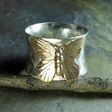 Fashion 925 Silver Filled Women Butterfly Ring Wedding Party Jewelry Size 10