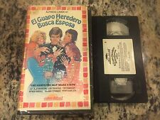 EL GUAPO HEREDERO BUSCA ESPOSA RARE BIG BOX CLAMSHELL VHS SPANISH MEXI 1972
