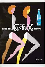 Original Vintage Poster Bernard Villemot Contrex 1970