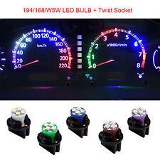 30x T10 Twist Lock Wedge Instrument Panel IceBlue LED Dash Light Bulb PC168 194