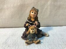 Boyds Bear Yesterdays Child Dollstone Cindy With Collier Dress Up Figurine 3555
