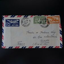 INDOCHINE LETTRE COVER CAD SAIGON SUD VIET-NAM 1951 -> CLOYES