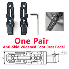 Motorcycle 2PCS Rear Anti-Skid Widened Foot Rest Pedal Motorbike Modified Parts