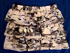 Jessica Simpson chiffon tiered ruffle mini skirt Jr 3/4 lavender *FREE SHIP* NEW