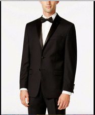 $450 Lauren Ralph Lauren Black Classic-Fit Tuxedo Mens w/suspenders Sz 48R 38x32