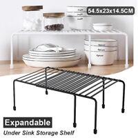 Expandable Cabinet Kitchen Plate Dish Shelf Adjustable Organizer Storage Rack