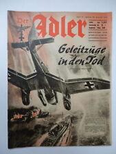 DER ADLER rivista Luftwaffe Wehrmacht aviazione aereo propaganda 1940 issue 17 *