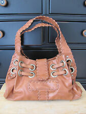 Vintage Aldo BOHO Style Camel Brown Faux Leather Shoulder Handbag Satchel
