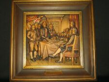 Anri 16�x16� Relief Woodcarving The Declaration of Independence