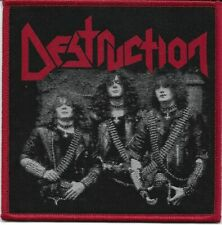 DESTRUCTION-OLD SCHOOL PHOTO-WOVEN PATCH-RED BORDERS