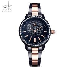 Rose Gold Women Watch Ladies Crystal Luxury Female Wrist Watch Relogio Feminino