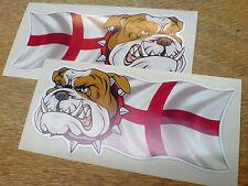 BRITISH BULLDOG & ENGLAND Car Van Motorcycle Stickers Decals 2 off 150mm