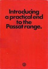 Volkswagen Passat Hatchback 1975 UK Market Foldout Brochure 3-dr 5-dr Base LS TS