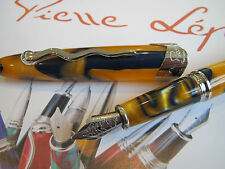 Jean-Pierre Lepine Samba SM33FS yellow blue filet fountain pen MIB