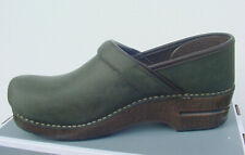 Dansko Professional Women's Olive Forest Green Oiled Pull Up Sz 40 NIB NoLid