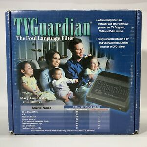 "New TV Guardian ""The Foul Language Filter"" Vintage TV AV Accessory 2000"