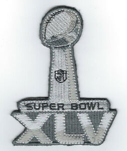 2011 Super Bowl XLV patch Packers vs Steelers SB 45 Green Bay Aaron Rodgers