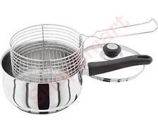 New 20CM chip pan avec panier friteuse fry en acier inoxydable + couvercle cuisiner pot